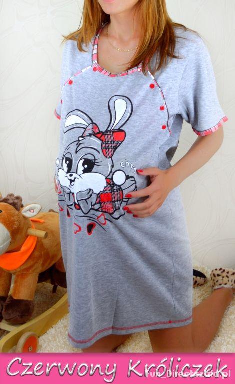 Koszula nocna ciążowa do karmienia S M L XL XXL w Koszule  wJ3fw