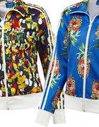 adidas bluza kwiaty owoce zwierzęta...