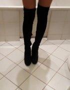 kozaki overknee za kolano wysokie na szpilce