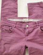 Spodnie rurki 40 42 XL fiolet elastyczne tregginsy