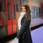Płaszcz pepitka elegance