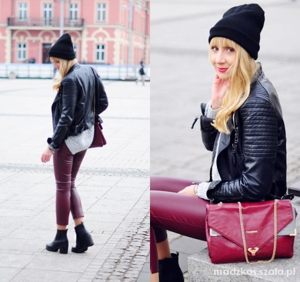 Blogerek Total leather look