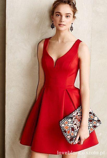 Wasze inspiracje sukienka czerwona kloszowana