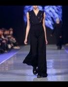 sukienka maxi z pokazu mody