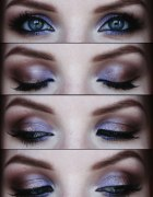 kolorowy makijaż...