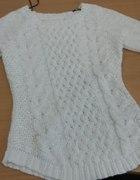 Piękny biały sweter H&M rozm S KURIER GRATIS