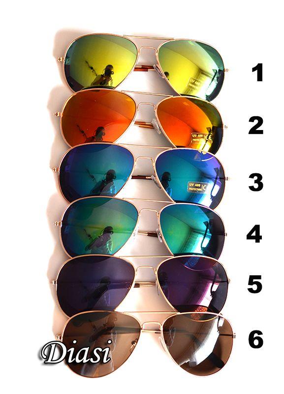 Okulary Okulary aviatory lustrzanki nowe rb 6 kolorów