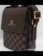 Louis Vuitton listonoszka ciemny braz nowa z maetk