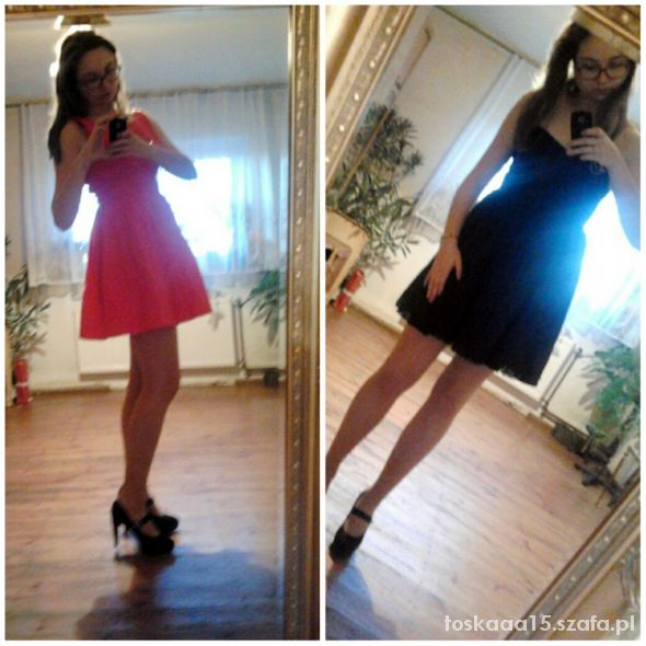 Imprezowe Pink dress & black dress