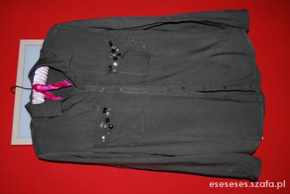 reserved koszula khaki z kamieniami w Koszule Szafa.pl