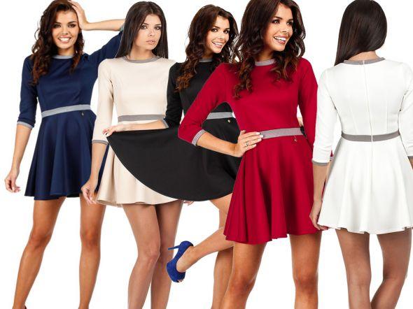 Suknie i sukienki ROZKLOSZOWANA SUKIENKA Z KOŁA S M L XL