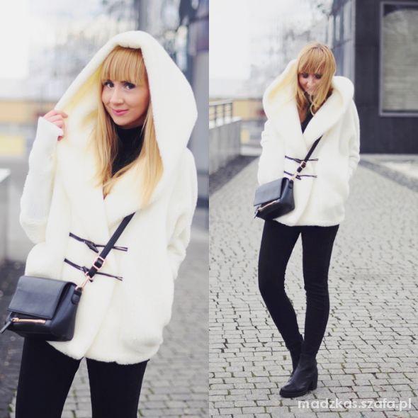 Blogerek WHITE SHEEPSKIN COAT