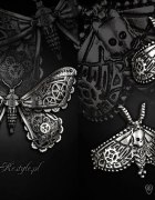 Biżuteria steampunkowa ćma Restyle