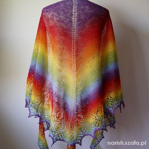 Chusty i apaszki Tęczowa kolorowa chusta