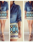 aztec print and jeans...