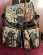 Plecak vintage w motyw kwiatowy...