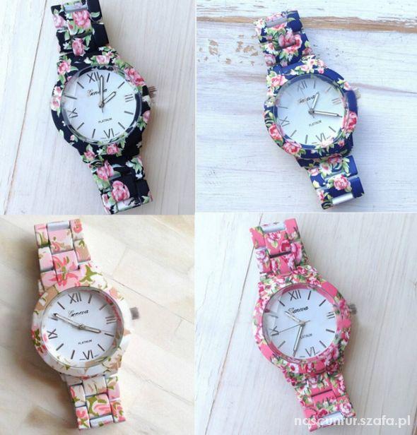 Zegarek floral geneva kwiaty