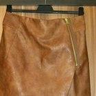 NOWA H&M skórzana asymetryczna spódniczka zara