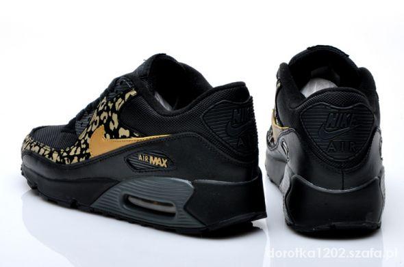 Nike air max 90 złota panterka czarna podeszwa w Sportowe