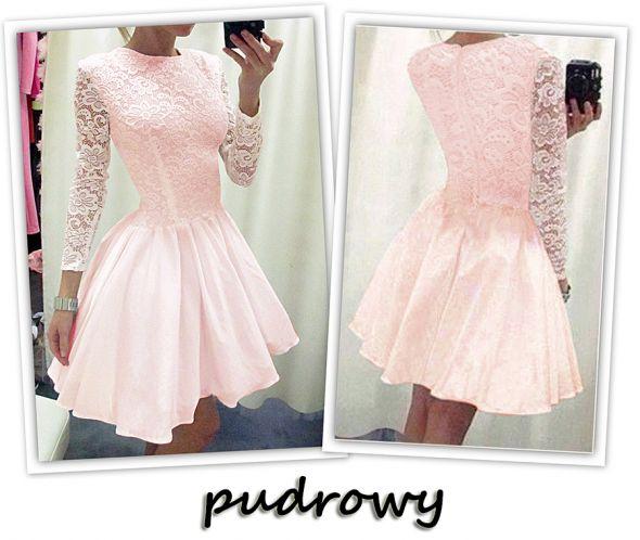 Suknie i sukienki piękna rozkloszowana sukienka koronka