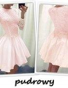piękna rozkloszowana sukienka koronka
