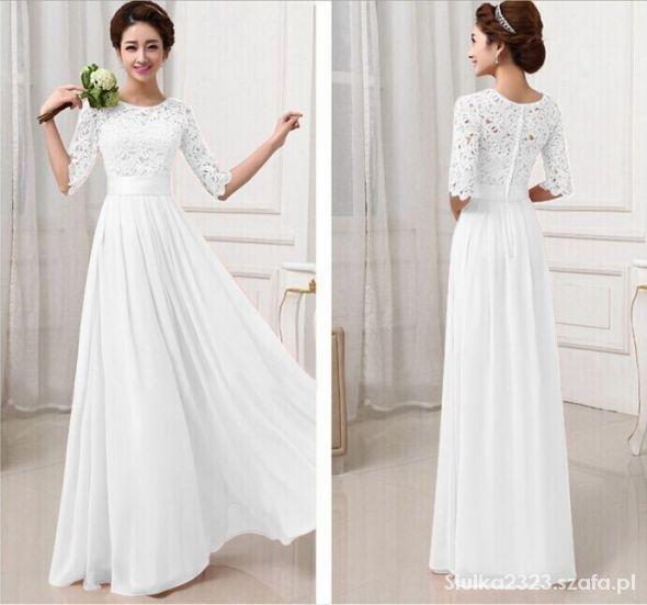 45d11563b3 Maxi dress long dress sukienka koronka w Suknie i sukienki - Szafa.pl