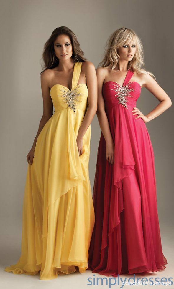 Na specjalne okazje żółte sukienki