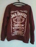 Bordowa Bluza Jack Danniels