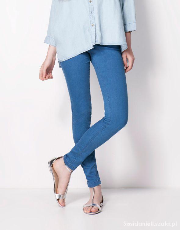 bershka skinny jegginsy jeans dopasowane 38