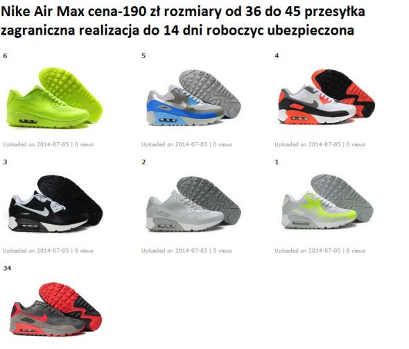 Nike Air Max rozm od 36 do 40
