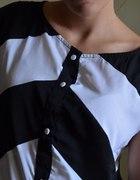 tunika mini sukienka na guziki vila s back&white