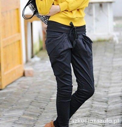 Czarne spodnie alladynki japan style...