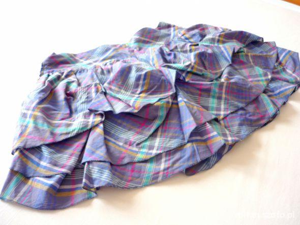 Spódnice Spódniczka z falbankami w kratkę