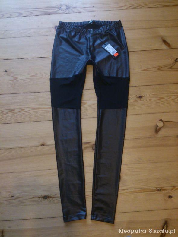 Spodnie BIK BOK M getry z siateczką eko skóra