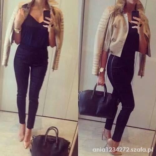 Eleganckie elegancka czerń