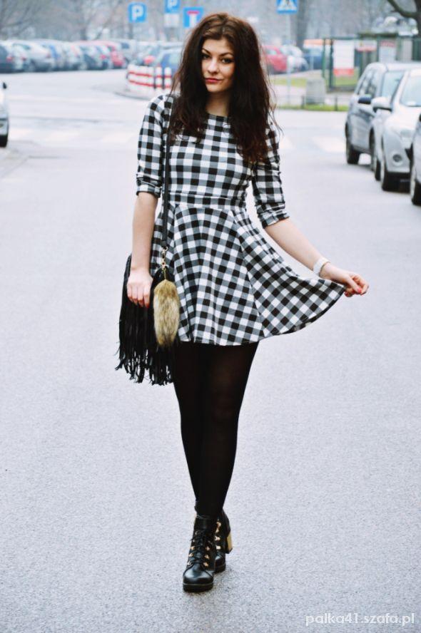Mój styl Sukienka w kratkę