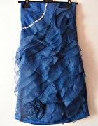 Sukienka z falbanami S 36