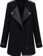 Czarny płaszcz xs s