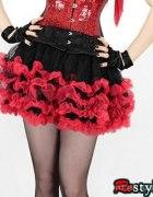 Tiulowa spódniczka tutu czarno czerwona z Restyle...