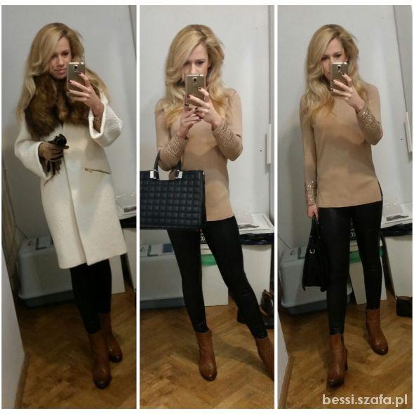 Mój styl Sweterek z kamieniami Zara