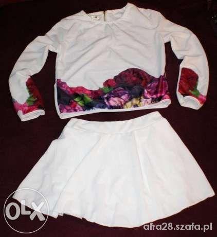 spodnica bluzka kwiaty komplet s