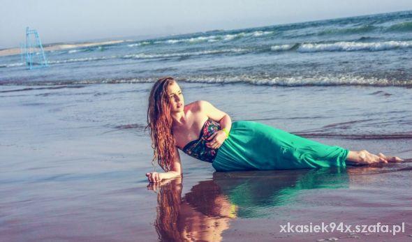 Romantyczne Syrena na brzegu morza