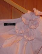 ORSAY taliowana koszulka pudrowy róż 40