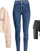 Poszukiwane niebieskie jeansy HIGH WAIST