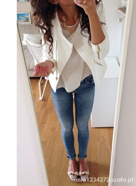 Eleganckie Biel i jeans