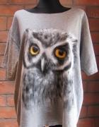 Koszulka ręcznie malowana SOWA