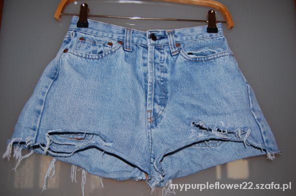 Spodenki shorty levis diy jeansowe