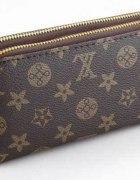 Duży podwójny portfel LOUIS VUITTON brązowy