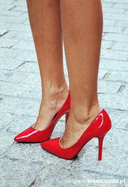 Szpilki Zara krwista czerwień red
