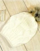 woolen fur pompom beanie
